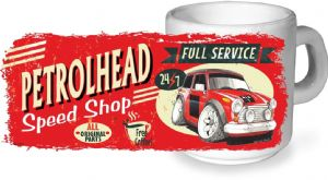 Koolart PERTOLHEAD SPEED SHOP Design For Classic Mini Cooper S Works Ceramic Tea Or Coffee Mug